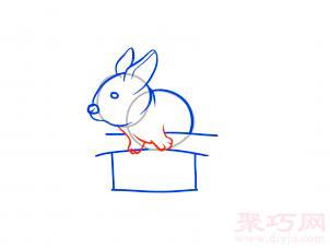 帽子變魔術兔子簡筆畫第8步
