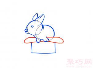 帽子變魔術兔子簡筆畫第9步