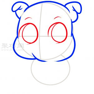 儿童简笔画卡通猪的画法