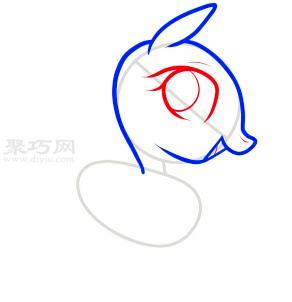 小馬簡筆畫第3步