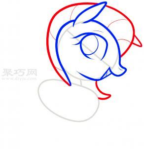 小馬簡筆畫第4步