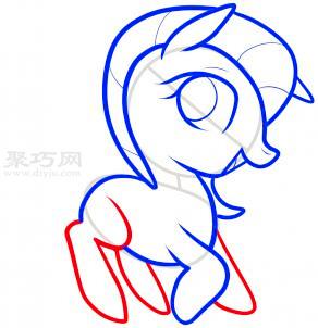 小馬簡筆畫第6步