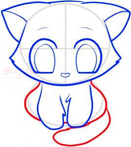 儿童简笔画小猫的画法 教你如何画小猫简笔画