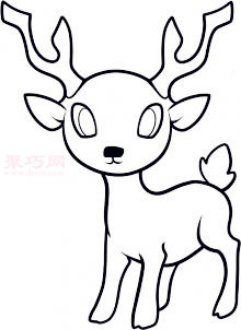 兒童簡筆畫鹿的畫法 教你如何畫鹿簡筆畫