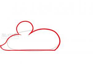 小老鼠簡筆畫第1步