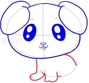 小狗简笔画第6步