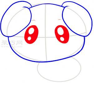 小狗简笔画第4步