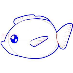 儿童简笔画鱼的画法 教你如何画鱼简笔画