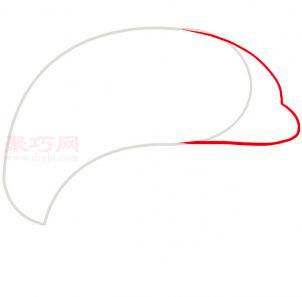 海豚简笔画第2步