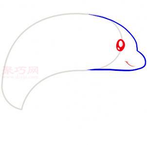 海豚简笔画第3步