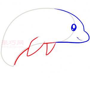 海豚简笔画第4步