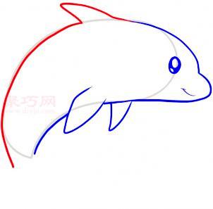 海豚简笔画第5步