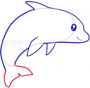 海豚简笔画第6步