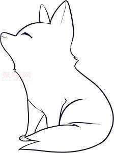 簡筆畫小狼的畫法 教你如何畫小狼簡筆畫