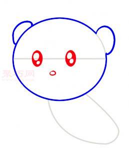 小狮子简笔画第3步