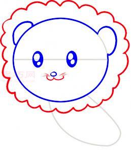 小狮子简笔画第4步