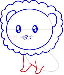 小狮子简笔画第5步