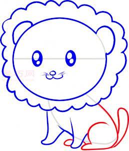 小狮子简笔画第6步
