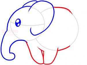大象簡筆畫第4步