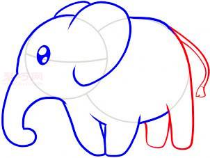 大象簡筆畫第5步