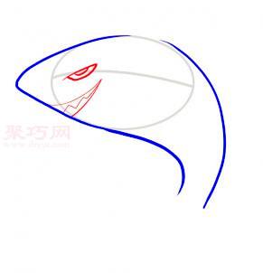 鯊魚簡筆畫第3步