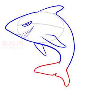 鯊魚簡筆畫第5步