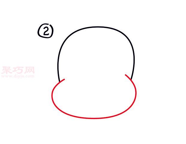 幼儿简笔画大嘴猴头像的画法