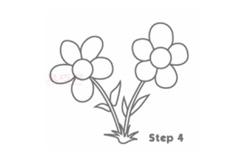 儿童简笔画花朵的画法 教你如何画花朵简笔画