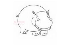 兒童簡筆畫河馬的畫法 教你如何畫河馬簡筆畫