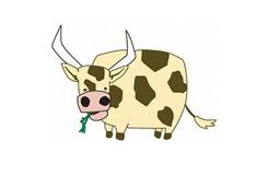 儿童简笔画奶牛的画法 教你怎么画奶牛简笔画