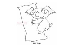 简易画考拉的步骤 画考拉的简笔画图片