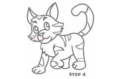 幼儿简笔画花猫的画法 教你如何画花猫简笔画