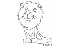 兒童簡筆畫獅子先生的畫法 教你怎樣畫獅子先生簡筆畫