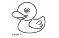 簡筆畫小黃鴨的畫法 教你如何畫小黃鴨簡筆畫