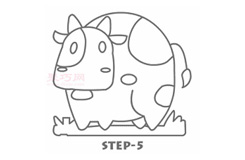 兒童簡筆畫花花牛的畫法 教你如何畫花花牛簡筆畫