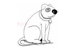 简易画小狗的步骤 画小狗的简笔画图片