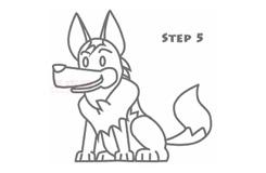 儿童简笔画狼狗的画法 教你如何画狼狗简笔画