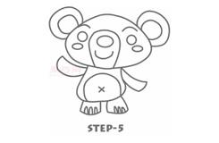 儿童简笔画可爱小熊的画法 教你如何画可爱小熊简笔画