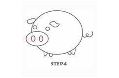 儿童简笔画小粉猪的画法 教你如何画小粉猪简笔画