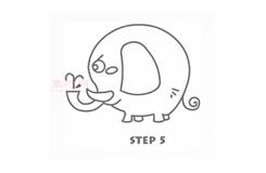 儿童简笔画小象的画法 教你如何画小象简笔画
