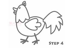 简易画小公鸡的步骤 画小公鸡的简笔画图片