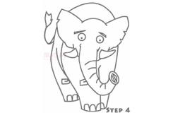 簡易畫大象的步驟 畫大象的簡筆畫圖片