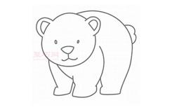 幼儿简笔画北极熊的画法 教你如何画北极熊简笔画