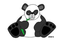 兒童簡筆畫熊貓的畫法 教你如何畫熊貓簡筆畫
