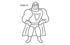 兒童簡筆畫英雄的畫法 教你如何畫英雄簡筆畫