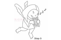 幼儿简笔画天使的画法 教你怎样画天使简笔画