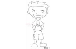 簡筆畫小男孩的畫法 教你如何畫小男孩簡筆畫