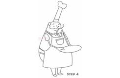 幼兒簡筆畫廚師的畫法 教你如何畫廚師簡筆畫