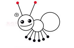 簡易畫小螞蟻的步驟 畫小螞蟻的簡筆畫圖片