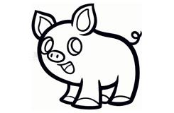 簡易畫小豬的步驟 畫小豬的簡筆畫圖片
